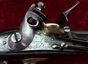 Napoleonic era French Military Flintlock Officer's Pistol. Ref 7959   Muzzle loader