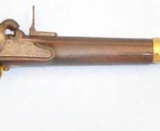 Maubeuge Arsenal Percussion Military Carbine With Rifled Barrel, Bayonet Slide & Steel Ram Rod Wi Muzzleloader .7  Rifles