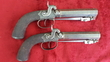 Pair of percussion  travelling pistols fitted with spring bayonets by G & J DEANE LONDON. Ref 9405   Muzzleloader for sale