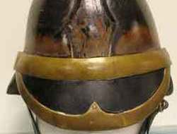 British Leather Merryweather Firemans Helmet British Leather Merryweather Firemans Helmet