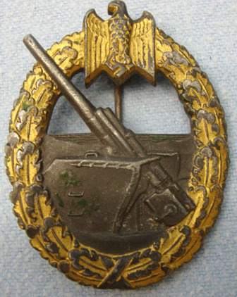 German Coastal Artillery Flak Badge German Coastal Artillery Flak Badge Accessories