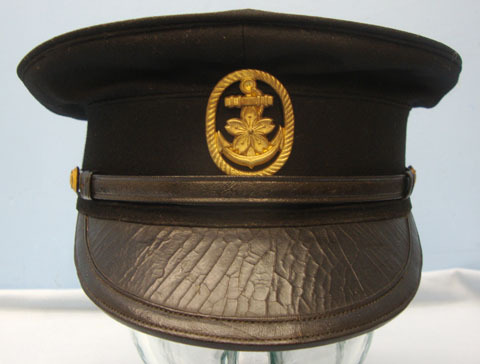 Japanese Naval Junior Officer's Visor Cap with Seaman's Badge. Japanese Naval Junior Officer's Visor Cap with Seaman's Badge. Accessories