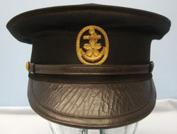 Japanese Naval Junior Officer's Visor Cap with Seaman's Badge. Japanese Naval Junior Officer's Visor Cap with Seaman's Badge.