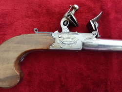 English flintlock pocket pistol  manufactured by Twigg of London. Ref 9360   Muzzleloader