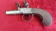 English flintlock pocket pistol manufactured by Johnson & Collins. Ref 9401   Muzzleloader for sale in United Kingdom