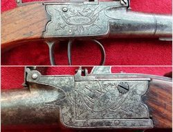 A very scarce and unusually large size English flintlock box-lock...