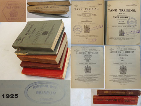 Set Of 5 Official H.M.S.O. Books On Tank (x2), Machine Gun, Field Artillery and Set Of 5 Official H.M.S.O. Books On Tank (x2), Machine Gun, Field Artillery and  Accessories