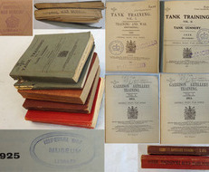 Set Of 5 Official H.M.S.O. Books On Tank (x2), Machine Gun, Field Artillery and Set Of 5 Official H.M.S.O. Books On Tank (x2), Machine Gun, Field Artillery and