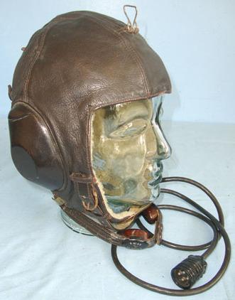 be69e04095f Siemens LKpW-101  Leather Luftwaffe Fighter Pilot s Fleece Lined Flying  Helmet By Siemen Accessories