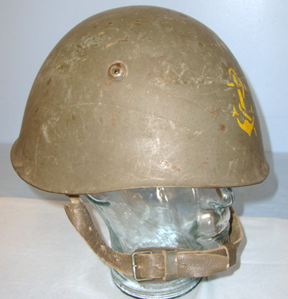 Italian Pattern 1933 Naval / Marine Steel Combat Helmet With 'Fouled Anchor' Pai Italian Pattern 1933 Naval / Marine Steel Combat Helmet With 'Fouled Anchor' Pai Accessories