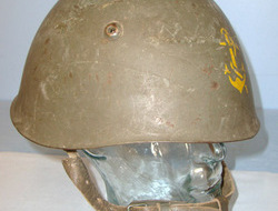 Italian Pattern 1933 Naval / Marine Steel Combat Helmet With 'Fouled Anchor' Pai Italian Pattern 1933 Naval / Marine Steel Combat Helmet With 'Fouled Anchor' Pai