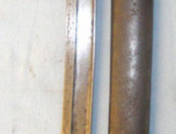 French Arsenal 'Tulle' French Model 1866 Chassepot Yataghan Sword Bayonet By Tulle Arsenal With Brass G Bayonets