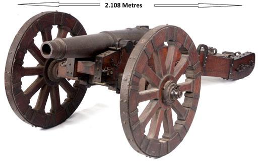 NAPOLEONIC BRITISH PENINSULAR WAR ERA, 1 ½ Pounder Cannon On English Heritage Su 1 ½ Pounder Cannon On English Heritage Supervised Professionally Restored Penins Rifles