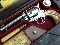 Custom Nickel Colt Peacemaker 5 mm Revolver