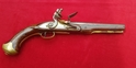 A rare British Military style Flintlock Pistol by TRULOCK. C1780-1815. Good condition. Ref 1008.   Muzzleloader for sale