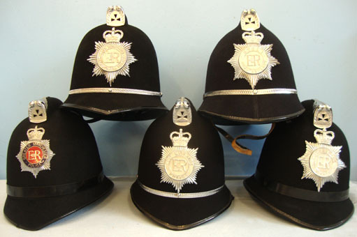 Police Constable & Sergeant\'s Uniform Helmet with Plate. (price per helmet) Mer British Police Constable & Sergeant's Uniform Helmet with Plate. (price per helm Accessories