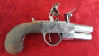 Henry Richards double Barrelled Tap Action Flintlock Pistol. Ref 8878   Muzzleloader