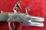 Henry Richards double Barrelled Tap Action Flintlock Pistol. Ref 8878   Muzzleloader for sale in United Kingdom