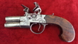 Henry Richards double Barrelled Tap Action Flintlock Pistol. Ref 8878   Muzzleloader for sale