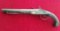 A rare Irish flintlock duelling pistol with TUTANAG mounts, made by Dory of Mallow. Ref 1409.   Muzzleloader for sale