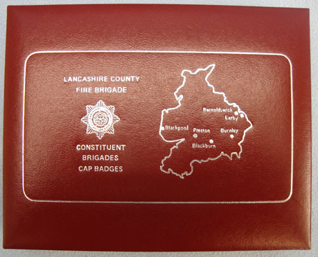Lancashire County Fire Brigade Presentation Case of Constituent Brigades Cap Bad Limited Edition 46/1000 Lancashire County Fire Brigade Presentation Case of Cons Accessories