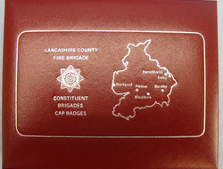 Lancashire County Fire Brigade Presentation Case of Constituent Brigades Cap Bad Limited Edition 46/1000 Lancashire County Fire Brigade Presentation Case of Cons