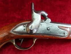 An unusual 19th century continental Percussion military pistol, Circa 1840. Good condition. Possibly Danish ? Ref 9803.   Muzzleloader