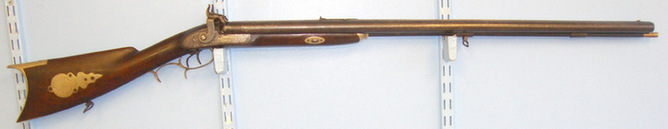 "N. Delany Pennsylvania Double Barrelled .44"" Patched Ball Calibre Kentucky Plains Rifle By N. Delany Pe Rifles"