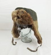 WWII German Waffen SS Fur Lined Winter Hat