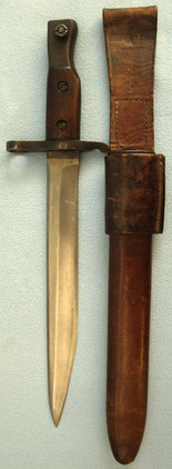 Ross Bayonet MK II With Leather Scabbard & Frog.  Blades