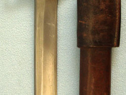 Ross Bayonet MK II With Leather Scabbard & Frog.  Bayonets