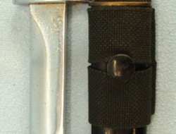 British X2 E1 Trials Bayonet, Scabbard and Webbing Frog.  Bayonets