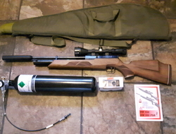 Weihrauch Hw100 full kit with dive bottle (mint condition). 22 Ai...