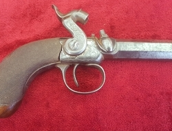 English Antique single barrelled Percussion pistol by Williams of...