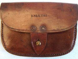 B. H. & G. Royal Navy Leather Amunition Pouch By B. H. & G