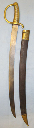 French Brass Handled Infantry Briquet Short Sword Sidearm & Scabbard. Briquet Short Sword Sidearm & Scabbard. Blades