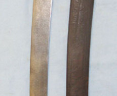 French Brass Handled Infantry Briquet Short Sword Sidearm & Scabbard. Briquet Short Sword Sidearm & Scabbard. Swords