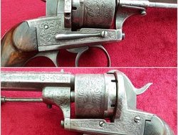 A good Belgian 13mm Pinfire 6 shot revolver by A FRANCOTTE. Circa...