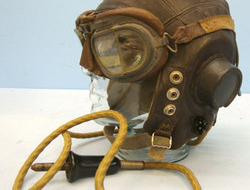 Royal Air Force 'C' Type Leather Flying Helmet Size 7 - 7 1/4