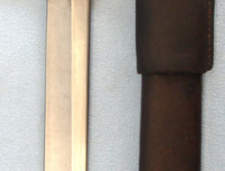 Ross Rifle Co Quebec Patent 1907 Canadian Ross Bayonet MK I With Leather Scabbar  Bayonets