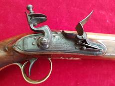 A good English brass barrelled Flintlock pistol by DUNDERDALE MABSON & LABRON. C. 1807. Ref 2297.   Revolver