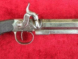 English 19th Century Percussion belt pistol made by Towlson of Marlboro. Ref 8481   Muzzleloader