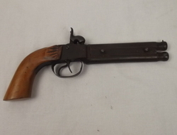 19th Century Double Barreled Percussion Pocket Pistol Muzzleloader