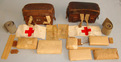 Pair Of WWII 1937 & 1941 Dated German Army Combat Field Medic's (Sanitäter) Hard Combat Field Medic's (Sanitäter) Hard Case Left & Right Leather Belt Pouches By for sale in United Kingdom