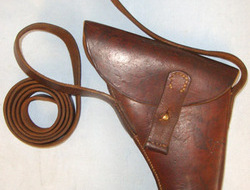 British Webley Trench/Flare Signal Pistol Holster With Cross Belt...