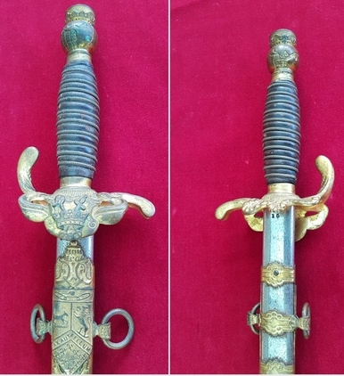 American Masonic or Lodge Sword. Original owner's name  HERMANN MATTKE. Good condition. Ref 9699. Blades