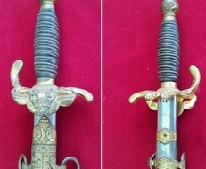 American Masonic or Lodge Sword. Original owner's name  HERMANN MATTKE. Good condition. Ref 9699. Swords