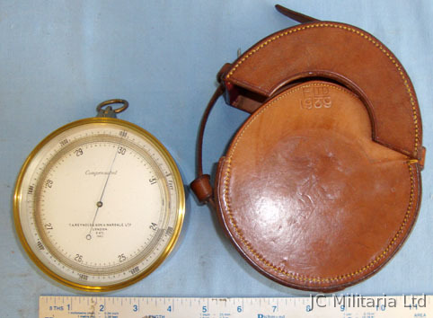 T.A. Reynolds, Son & Wardale Ltd, London Military Barometer / Altimeter By Reynolds, Son & Wardale London With Original W Accessories