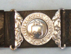 Halifax County Borough Police Uniform Leather Waist Belt, Buckle ...