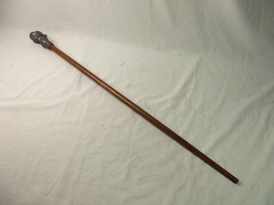 Pre WW2 Nazi German Walking Stick With Bust Of A German Soldier  Accessories